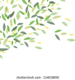 Fresh green leaves. Vector illustration, EPS10.