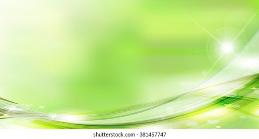 Fresh green green sky background