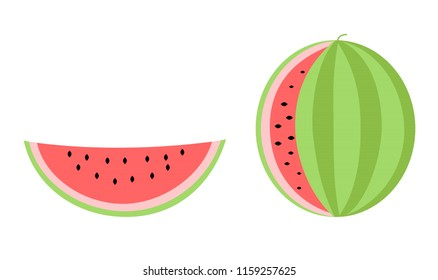 Fresh healthy summer fruit watermelon