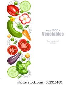 fresh healthy vegetables background vertical
