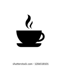 Fresh hot coffee icon vector