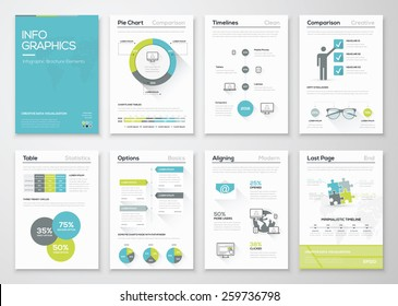 Fresh infographics vector concept. Business graphics brochures. Used for workflow layout, diagram, number options, step up options, web template, infographics, websites, brochures, flyers and prints.