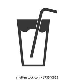 fresh juice drink with straw