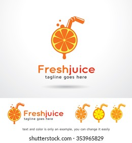 Fresh Juice Logo Template Design Vector