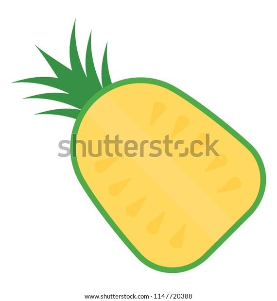 A fresh juicy fruit  depicting pineapple
