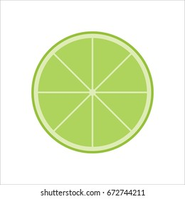 Fresh Juicy Lime Slice Vector Isolated