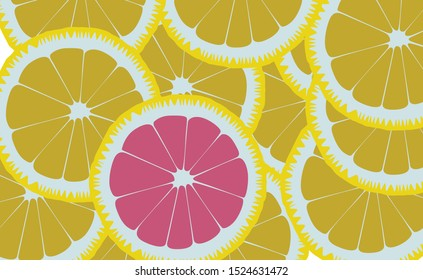 Fresh Lemonade Background Banner for Brand, Wallpaper Design, Flat Design and Simple