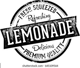 Fresh Lemonade Vintage Stamp Sign