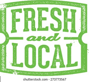 Fresh & Local Market Stamp
