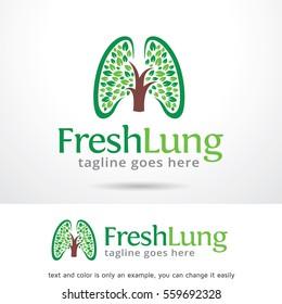 Fresh Lung Logo Template Design Vector or Icon