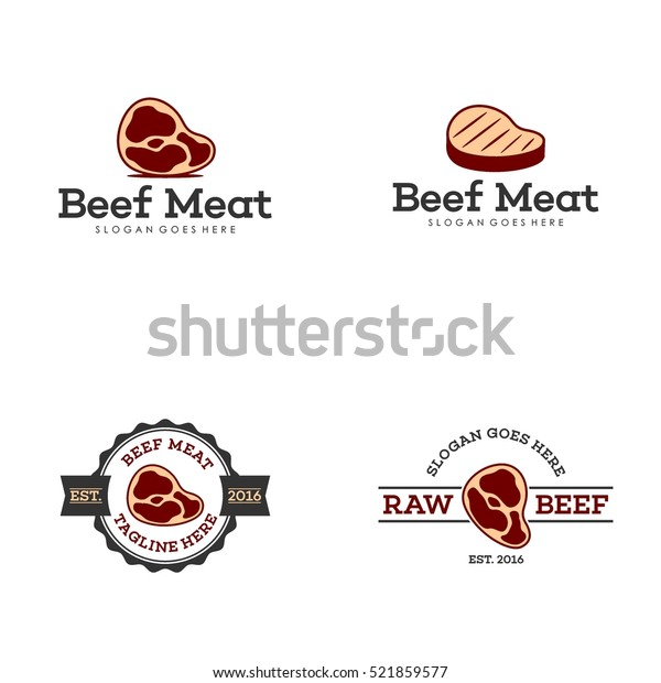 Fresh meat logo design template