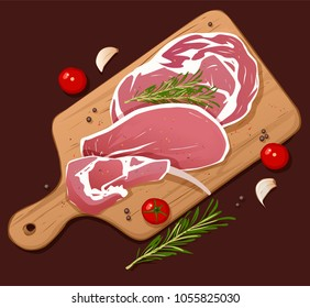 Fresh meat, vector illustration.