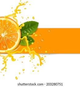 fresh orange background with splashes