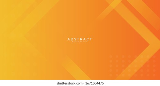 Fresh orange gradient web abstract background geometry shine and layer element vector for presentation design.