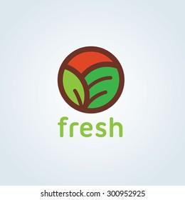 Fresh and Organic food Logo Template