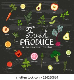 Fresh Produce and Aromatic Herbs