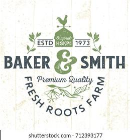 Fresh Roots Farm - Tee Design For Print