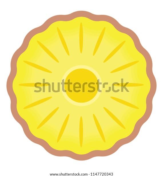 A fresh round shape fruit depicting citrus fruit