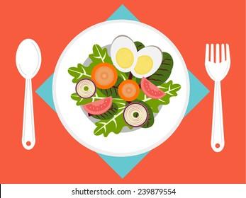 Fresh Salad on dish