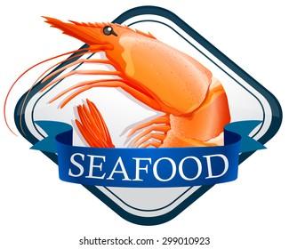 Fresh shrimp on the banner