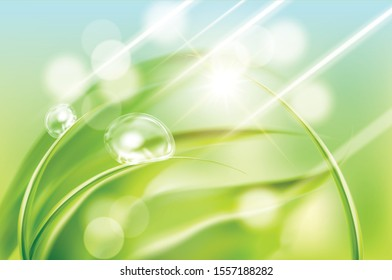 Fresh spring sunshine atmosphere background