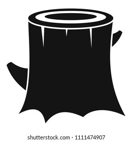 Fresh tree stump icon. Simple illustration of fresh tree stump vector icon for web design isolated on white background