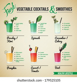 FRESH VEGETABLE COCKTAILS & SMOOTHIES