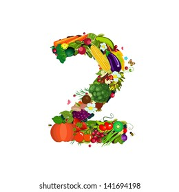 Fresh vegetables and fruits number 2