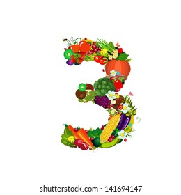 Fresh vegetables and fruits number 3