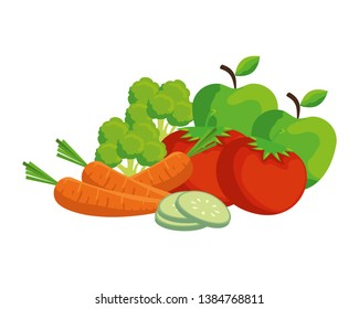 fresh vegetables and fruits salad