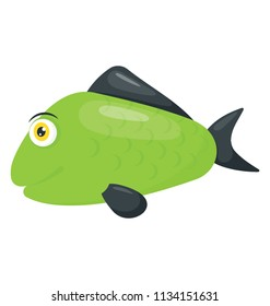 A fresh water green color fish depicting green sunfish