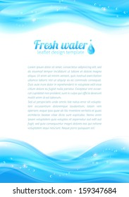 Fresh water vector leaflet template for your business presentation