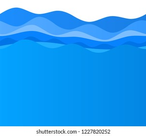 Freshness natural theme, a Fresh Water background of blue. Elements design seamless wave. Abstract wavy Vector illustration eps10