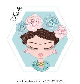 Frida Kahlo Love Roses Hair
