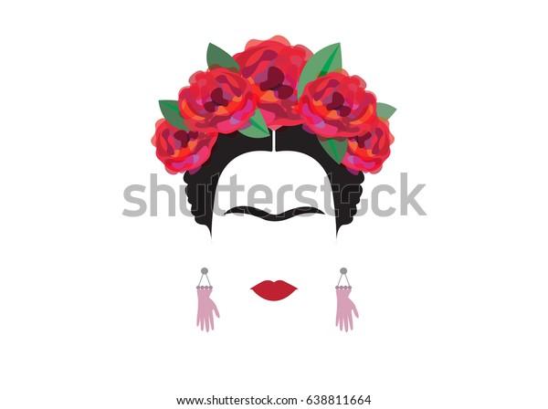 Vector De Stock Libre De Regalías Sobre Frida Kahlo