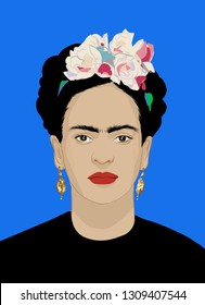Frida Kahlo portret illustration Mexico
