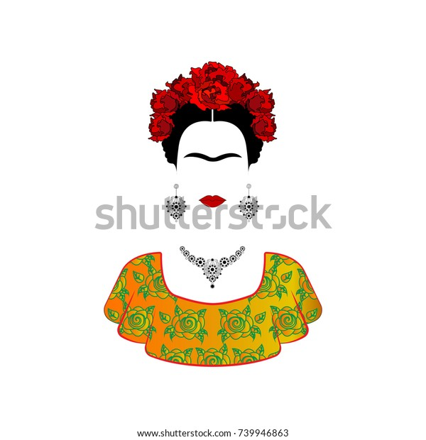 Vector De Stock Libre De Regalías Sobre Frida Kahlo Vector
