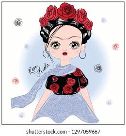 Frida Roses Pattern