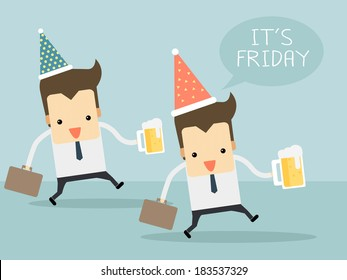 Friday after work let's go to party vector