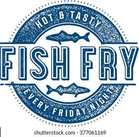 Friday Fish Fry Menu Stamp
