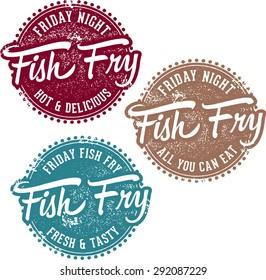 Friday Fish Fry Menu Stamps