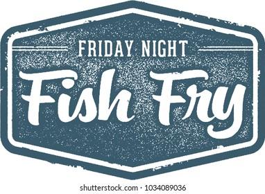 Friday Night Fish Fry Vintage Restaurant Sign