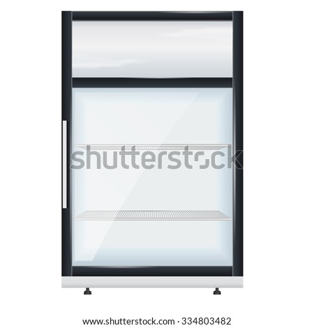Fridge Drink Glass Door Mini Display Stock Vector Royalty Free