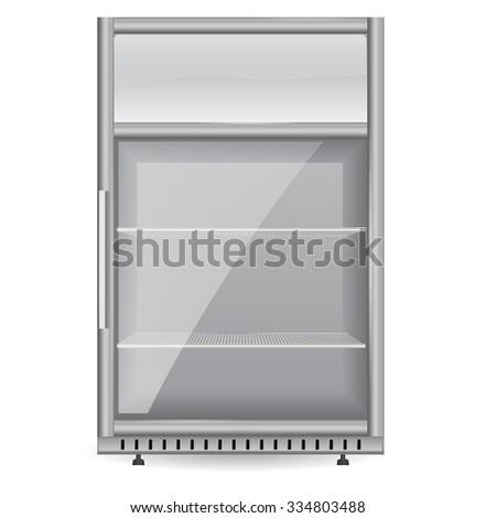 Fridge Drink Glass Door Mini Display Stock Vector Royalty Free