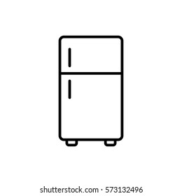 fridge freezer refrigerator condenser icon line black on white background