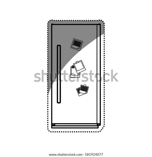 Fridge home appliance icon vector illustration graphic design