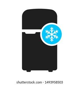 Fridge vector icon isolated on white background