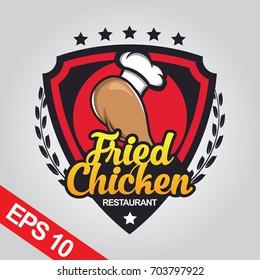 Fried Chicken logo, Set chicken logo
