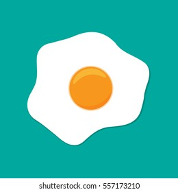 Fried egg flat icon.