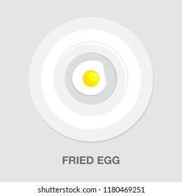 fried egg icon - breakfast meal icon - healthy food